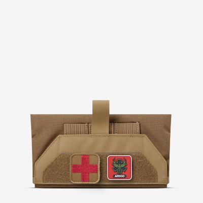 The coyote Lower Back Individual First Aid Kit (LB IFAK) from AR500 Armor of the Armored Republic