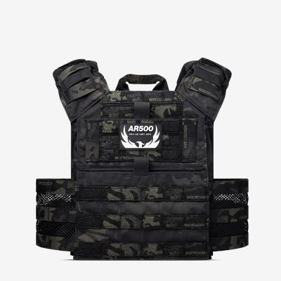 The black multicam Valkyrie plate carrier from AR500 Armor of the Armored Republic