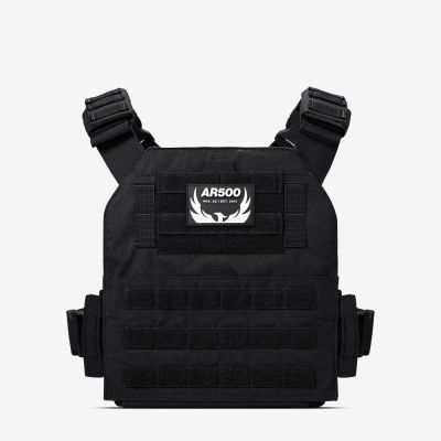 Our black Veritas plate carrier from AR500 Armor of the Armored Republic.
