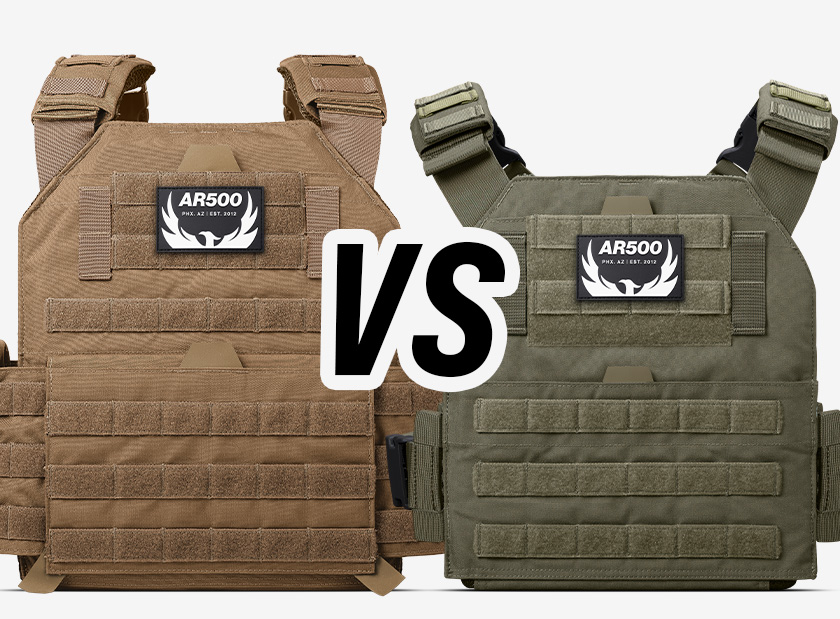 Side-by-side image of Testudo and Veritas Plate Carriers