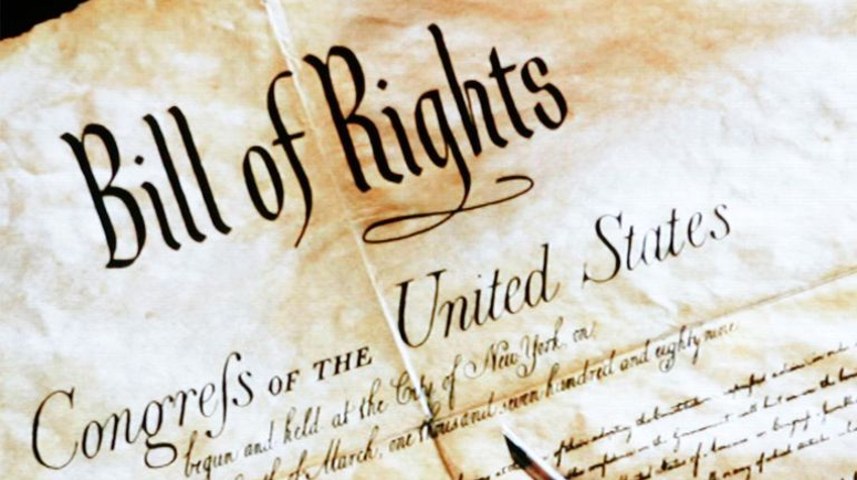 image of the heading of the US Bill of Rights