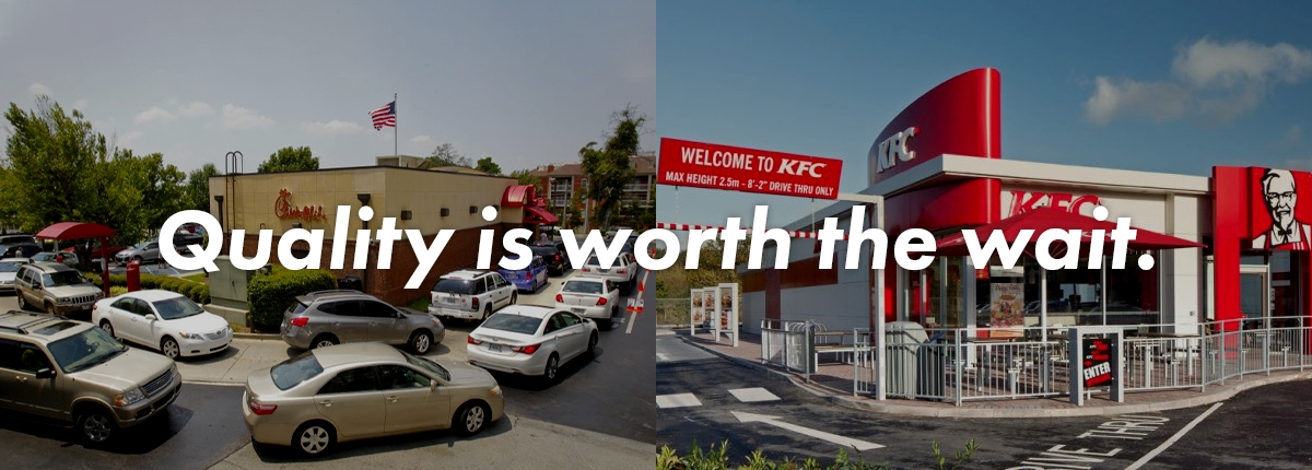 Ever wonder why people wait for Chick-fil-a but KFC is empty?